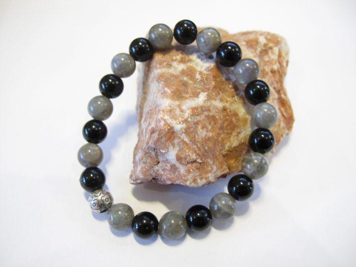 labradoriet zwarte onyx armband